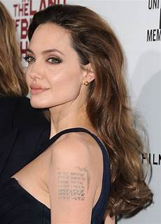 amazing and daring angelina jolie tattoo designs and meaning