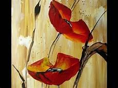 Painting Acrylic Poppies Flower Gem 228 Lde Acrylbilder