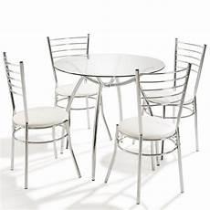 Table Ronde 4 Chaises Blanc Maison Et Styles