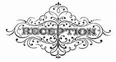 Wedding Reception Clipart vintage black and white clip wedding typography