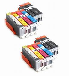 12 ink cartridges for canon pixma ip7250 mg6350 mg5450