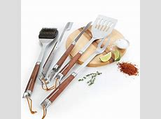 Stainless Steel BBQ Tool Set at Brookstone?Buy Now!