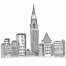 Malvorlagen New York Gratis City Skyline New York Sketch Illustrations Creative