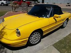 sell used 1993 alfa romeo spider veloce convertible 2 0l rare hardtop low miles trades in sell used 1993 alfa romeo spider veloce convertible 2 door 2 0lyellow anniversary edition in