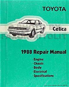 car repair manual download 1984 toyota celica on board diagnostic system 1988 toyota celica repair shop manual original