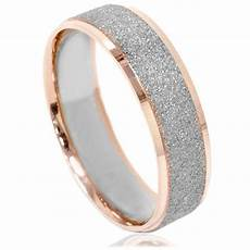 mens two tone wedding ring 14k white rose gold 6mm