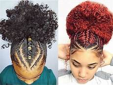 three braids going up into a ponytail hair in 2019 natural hair braids curly hair styles