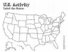 blank map of the united states worksheet