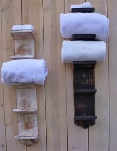 Badezimmer Handtuch Regal - bathroom towel storage holder bath decor wood by
