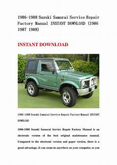 car owners manuals free downloads 1993 suzuki samurai instrument cluster 1986 1988 suzuki samurai service repair factory manual instant download 1986 1987 1988 by qin