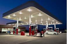 Gas Station And Convenience Store Revised Stock Photo