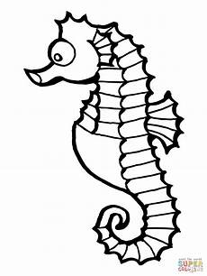 seahorse fish coloring page free printable coloring pages