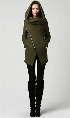 winter wool moss green jacket coat wool coat womens coat