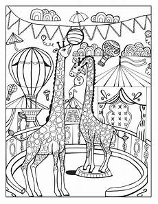 Malvorlagen Zirkus A Day At The Circus On Behance Giraffe Coloring Pages