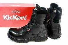 jual sepatu safety boot kickers pdl kulit sapi asli warna hitam sepatu tni polri security