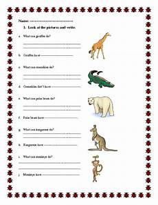 can animals do worksheets 13837 207 free can could worksheets