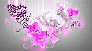 Neon Butterfly And Flowers Wallpaper  WallpaperSafari