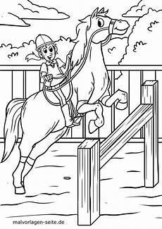 malvorlage pferd springreiten with regard to ausmalbilder