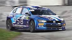 new vw polo gti r5 rally car in sound