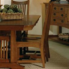 arts and crafts trestle dining room w chairs