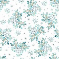 Watercolor Floral Seamless Pattern With Beautiful Blue