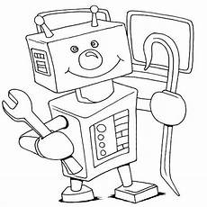 7 beste ausmalbilder roboter kfroboter bastelbogen