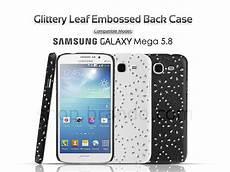 Back Samsung Galaxy Mega 5 5 samsung galaxy mega 5 8 duos glittery leaf embossed back