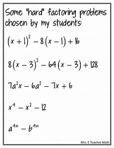 subtraction worksheets difficult 10043 factoring practice mrs e teaches math