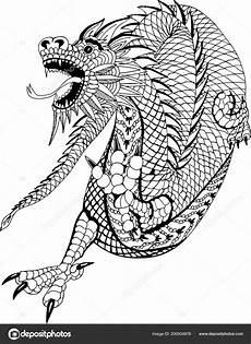 Malvorlagen Chinesische Drachen Kostenlos Chinesische Drachen Handgezeichnete Muster Zum Ausmalen