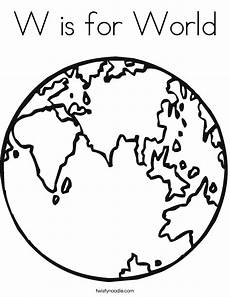 Malvorlagen Word W Is For World Coloring Page Twisty Noodle