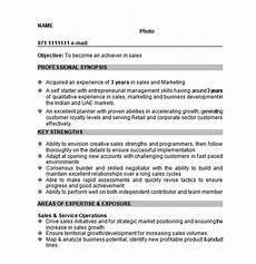 free 9 sle sales resume templates in pdf ms word