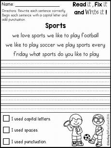 writing sentences worksheets 1st grade 22093 free fix it up sentences grade writing 1st grade writing 2nd grade writing