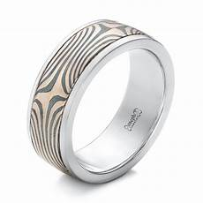 men s platinum and mokume wedding band 102130 seattle bellevue joseph jewelry