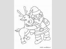 Rudolph und weihnachtsmann zum ausmalen zum ausmalen   de