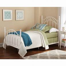 White Metal Bed Bedroom Ideas by Metal Bed Daybeds Frame Footboard Headboard