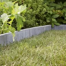 bordure de jardin en beton bordure droite quadra b 233 ton gris h 20 x l 50 cm leroy merlin