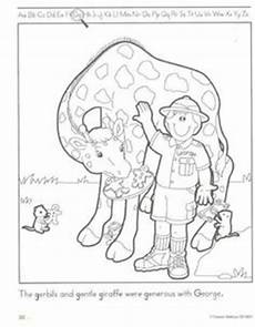 zoo keeper coloring page trace on large piece of