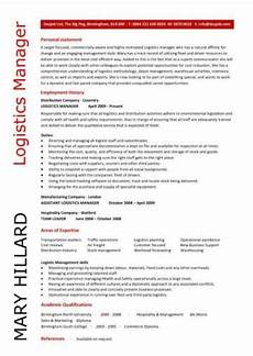 logistics manager cv template exle description supply chain manager delivery of goods c
