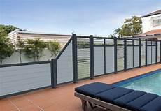 terrassensichtschutz in grauem dekor