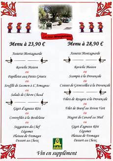 menu traditionnel français fourchette 233 dredon