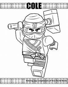 coloring page cole true bricks ninjago