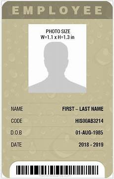 how to make id card template in word 8 best professional design vertical id card templates