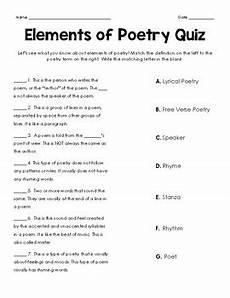 basic poetry worksheets 25244 basic elements of poetry worksheet pdf