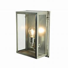 davey lighting davey lighting 7644 box wall light small internally glazed satin nickel clear