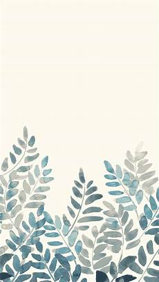 Watercolor Iphone Background by Free Watercolor Fern Mobile Wallpaper Front