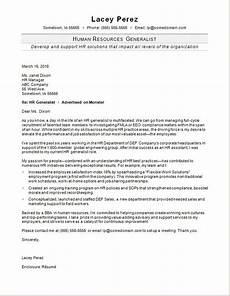 hr generalist cover letter sle monster com