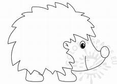 black and white happy hedgehog coloring page