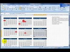 excel 2007 r 233 alisez un calendrier avec des jours f 233 ri 233 s
