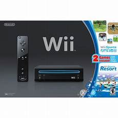 wii console sports wii console black w wii sports and wii sports resort