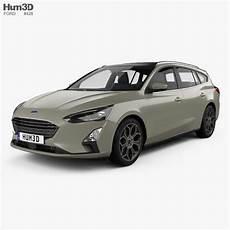 ford focus titanium turnier 2018 3d model vehicles on hum3d